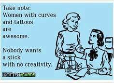 Curvy tattooed women