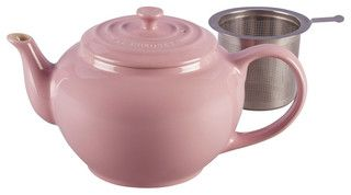 Le Creuset Large Teapot With Steel Infuser - traditional - coffee makers and tea kettles - by Chef's Corner Store