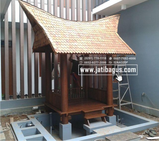 Gazebo Mini Model Rumah Adat
