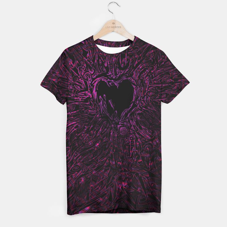 Pink Thorny Heart T-shirt, Live Heroes