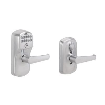 Schlage Plymouth Satin Chrome Electronic Door Lock With