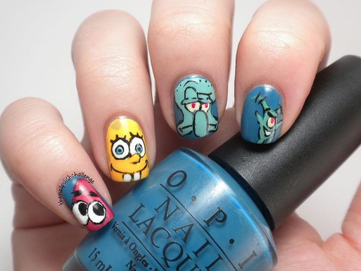 33 best cartoon nail art images on pinterest cartoon pretty cartoon themed nail art prinsesfo Image collections