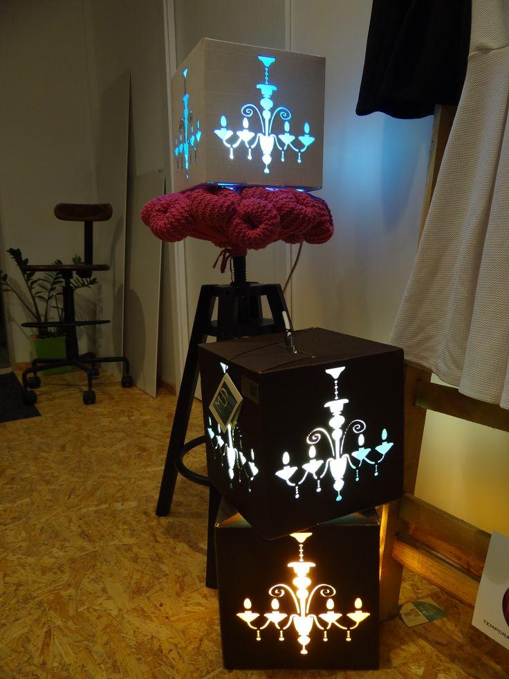 paper - light - chandelier