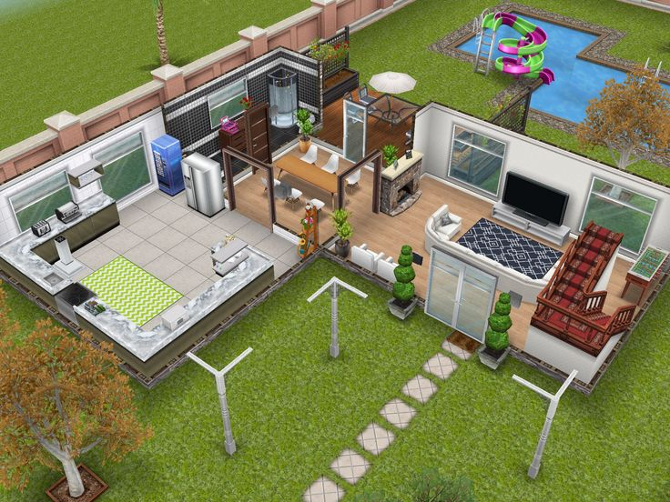 The Sims Free Play Modern house #2 #sims #thesims #house #ideas