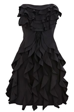 Oasis Taffeta Ruffle Dress
