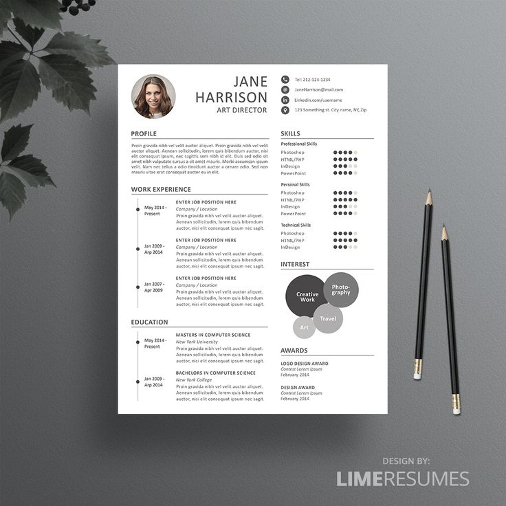 Creative Resume Template for Creatives 27 best