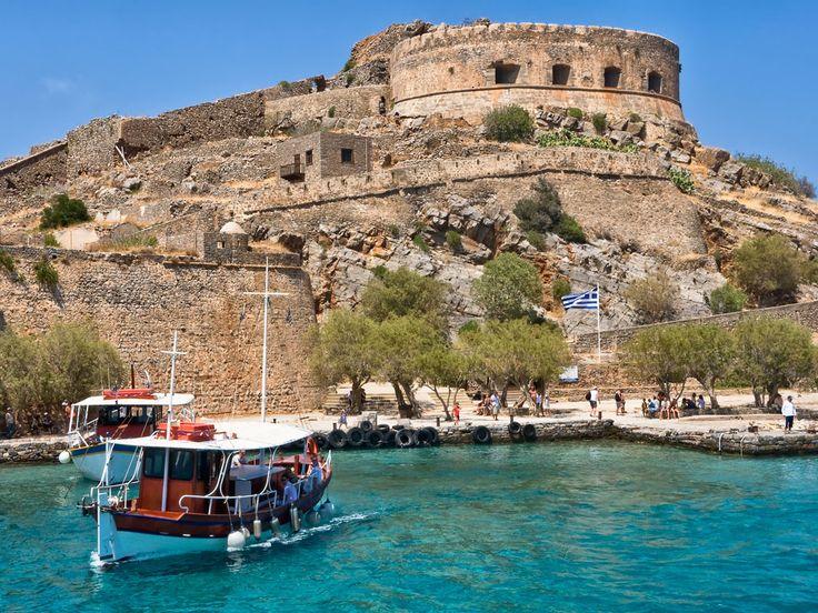 Причал древнего византийского города на острове Крит