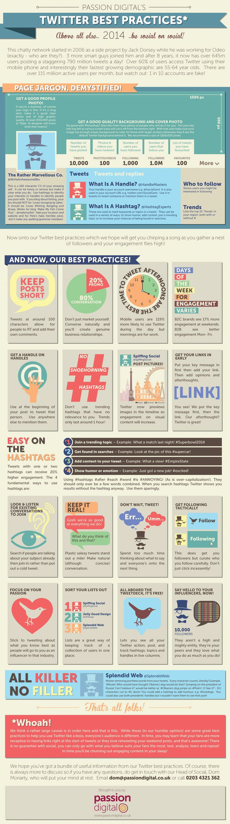 Twitter Best Practices - 23 Practices For 2014 #infographic