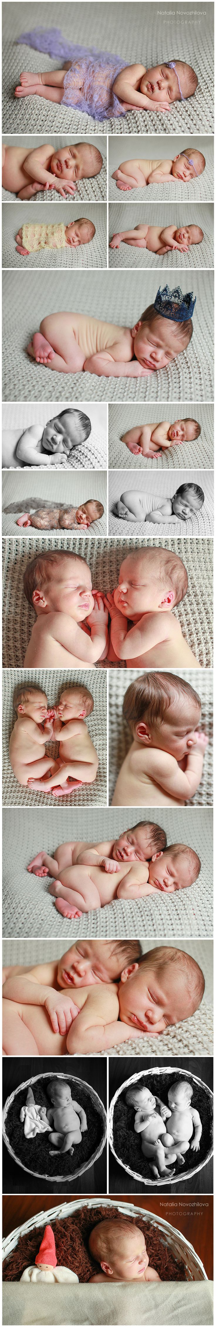 Natalia Novozhilova Photography Gemelli di 16 giorni  twin newborn photography #twins #twin #newborntwin #twinsphotography