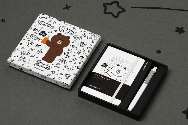 Line Friends Collection - Pocket Bundle with notebook and pen in a box