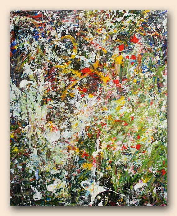 Modern Abstract Art  Title Paradise