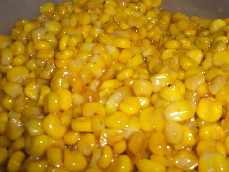 fried corn..... super fattening  but soo good.  i skip the sugar and heavy cream when i make it, cook in a skillet