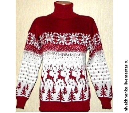 Кофты и свитера ручной работы. Ярмарка Мастеров - ручная работа. Купить Вязаный свитер Лесной олень. Handmade. Свитер с оленями