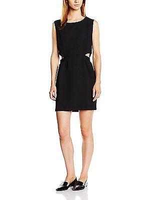 10, Black - Black, Suncoo Women's Robe Chrysta Sleeveless Dress NEW