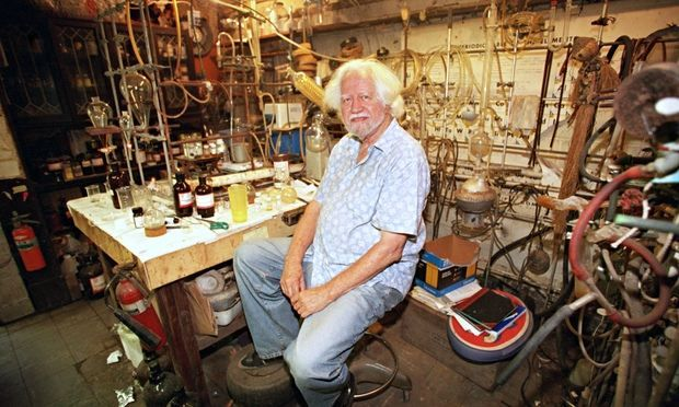 Alexander Shulgin in his lab in 2001.
