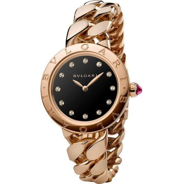 bvlgari catene 18ct pinkgold and diamond watch
