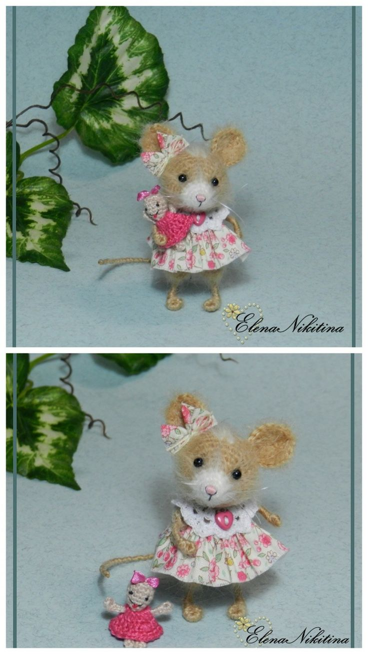 mouse with a doll