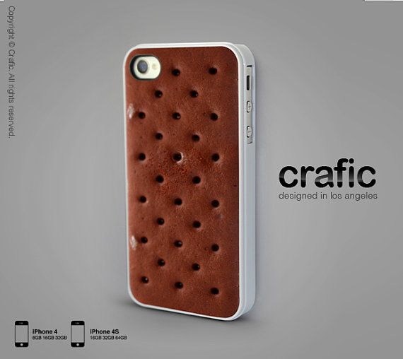 Ice Cream Sandwich iPhone case! yum! This  is not for those on weight loss diets ;-)