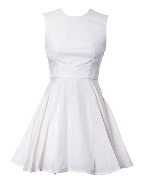 Nicola Finetti Insert Pleat with Cutout Dress
