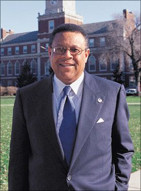H. Patrick Swygert received a B.A. degree from Howard University and a J.D. degree from Howard University School of Law. He served as Howard University president.