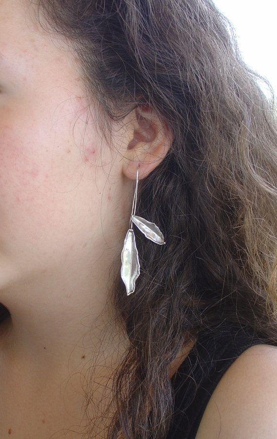 EARRINGS  handmade silver earrings OLIVE by Vroullis on Etsy, €40.00