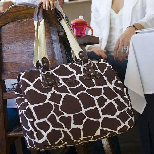 Giraffe Tote Diaper Bag : Diaper Tote Bags at PoshTots