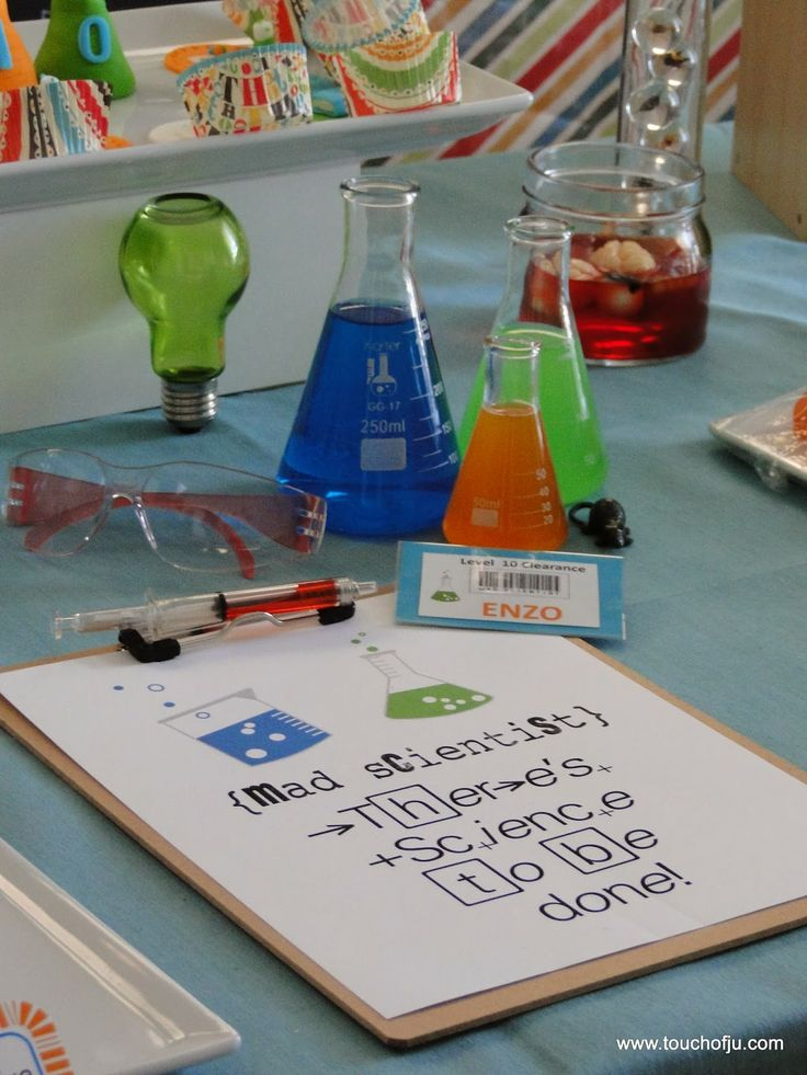 Mad Science Party Ideas Einstein Cientista Maluco Clipboard ideas safety