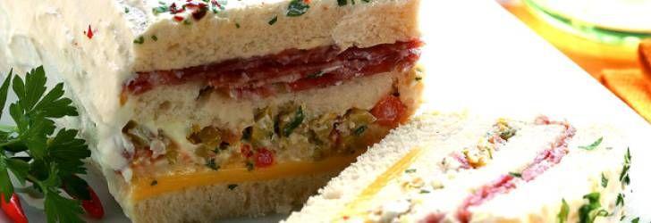 Receita de Sanduíche de salame com cobertura - Receitas Supreme