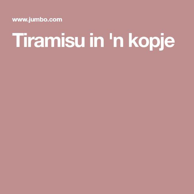 Tiramisu in 'n kopje