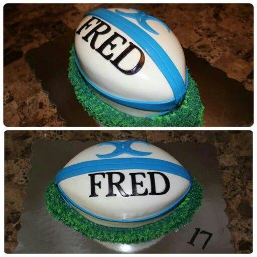 Birthday, fondant, rugby ball