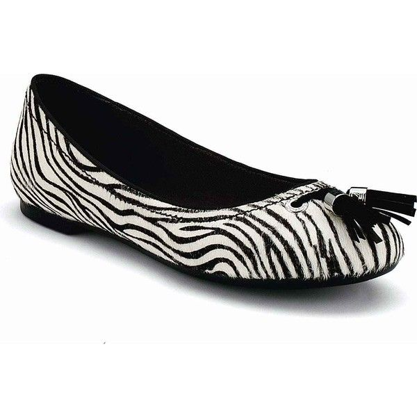 Sperry Women's Bliss Black/White Zebra Pony Flats ($110) ❤ liked on Polyvore featuring shoes, flats, leather flats, glitter ballet flats, leather ballet flats, sperry top-sider shoes and black and white flats