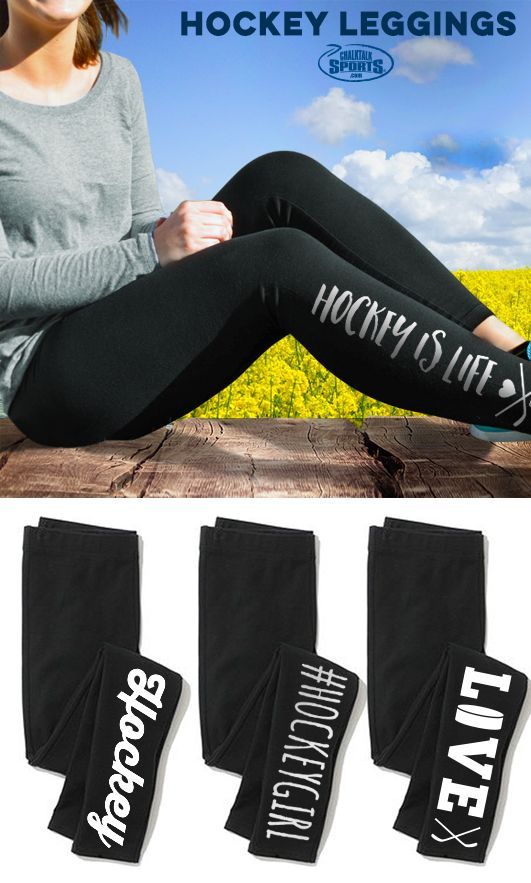 The perfect pair of comfortable pants for any hockey girl! Hang out off the ice in these super comfy leggings just for hockey girls!