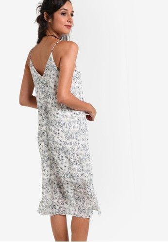 Collection Halter Cami Midi Dress from ZALORA in white_2
