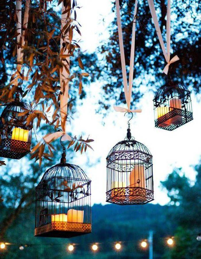 Détournez des cages à oiseaux en photophores