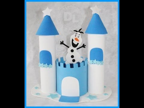 Centro de mesa castelo da frozen passo a passo - YouTube