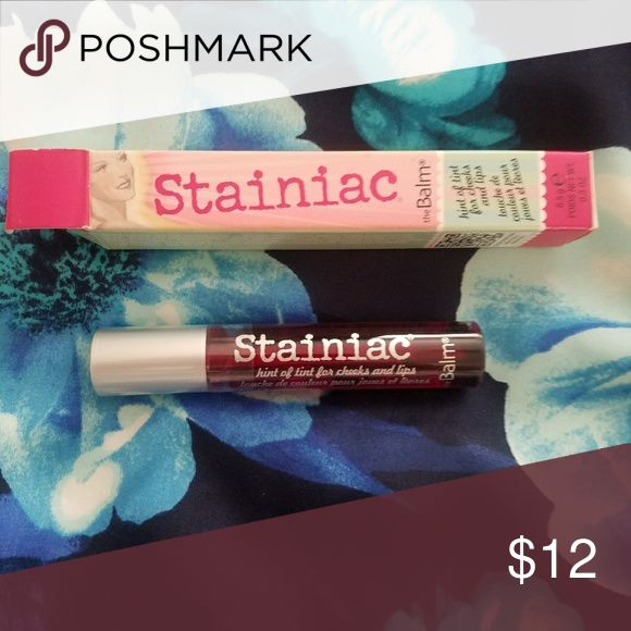 The Balm Stainiac Hint of tint for cheeks and lips the Balm Makeup Lip Balm & Gloss
