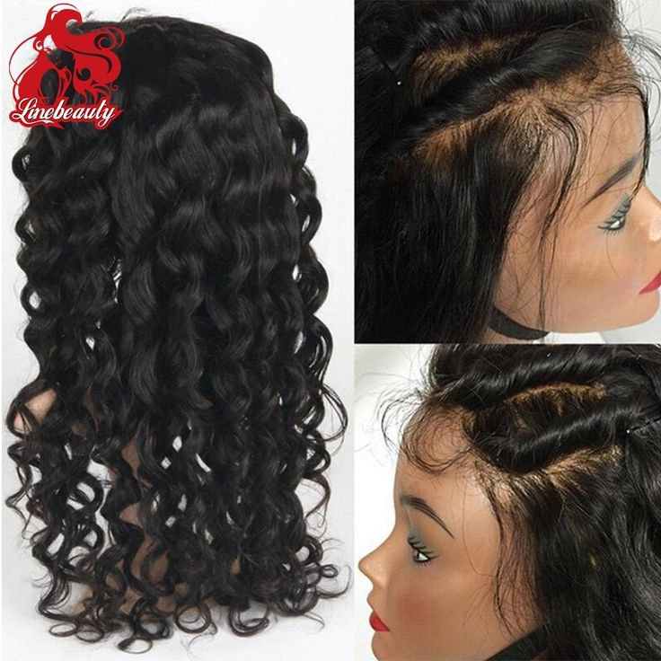 (36.00$)  Know more  - Glueless Synthetic Lace Front Wigs Long Wavy Black Wig Heat Resistant Fiber African American Wig For Black Women Afro Peruca
