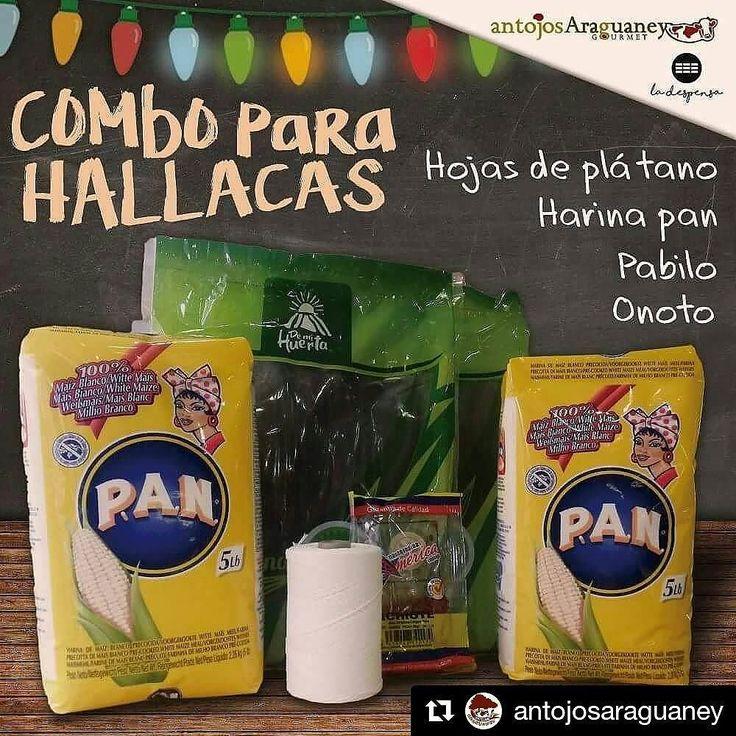 """Ya puedes comprar tu COMBO PARA HALLACAS! hojas de plátano harina pan pabilo y onoto. Encuentralo en nuestras tiendas Antojos Araguaney Gourmet y @ladespensamadrid #hallacas #combo #navideño #saborvenezolano #venezolanosenmadrid #madrid #food #foodstsgram #instafoodie #pan #lomejor #delicia  Antojos Araguaney Gourmet: """"C/ campo de la estrella 7 - las tablas"""" """"C/ granja del conde 2 - Majadahonda""""  La Despensa: @ladespensamadrid """"C/ ayala 28 puestos 37-41 Mercado de la Paz"""""""