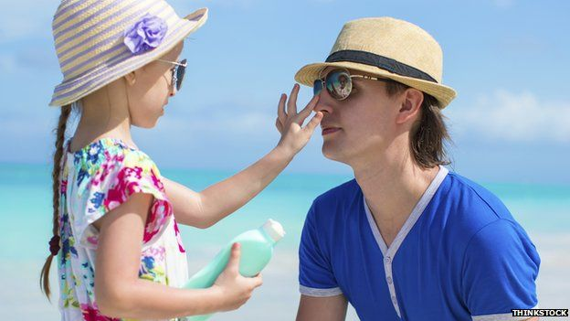 BBC News - Skin cancer: Sunscreen 'not complete protection'