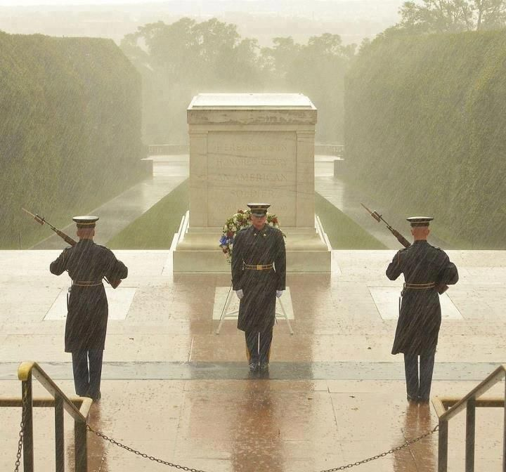 The Tomb of the Unknown Soldier. 24 hours a day, 365 days a year we remember....