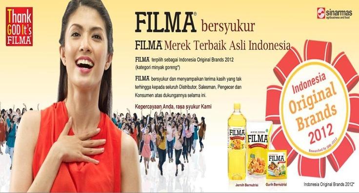 Selamat kepada FILMA telah menjadi pilihan No. 1 Wanita Indonesia dan mendptkan sertifikat INDONESIA ORIGINAL BRANDS 2012 !