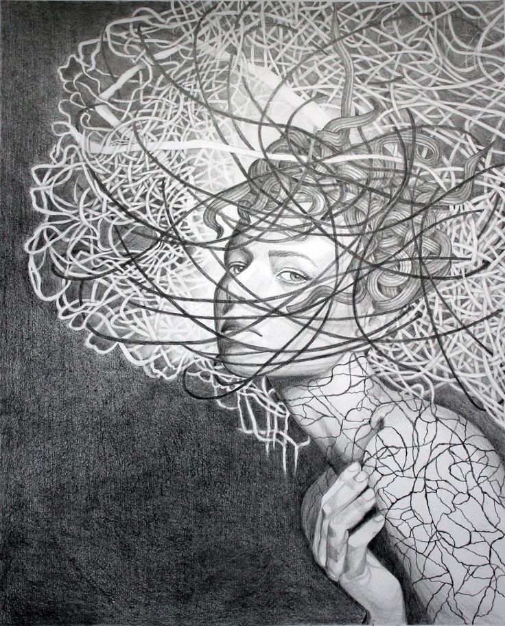 Anna Rączka,,My insomnia'' Drawing on paper