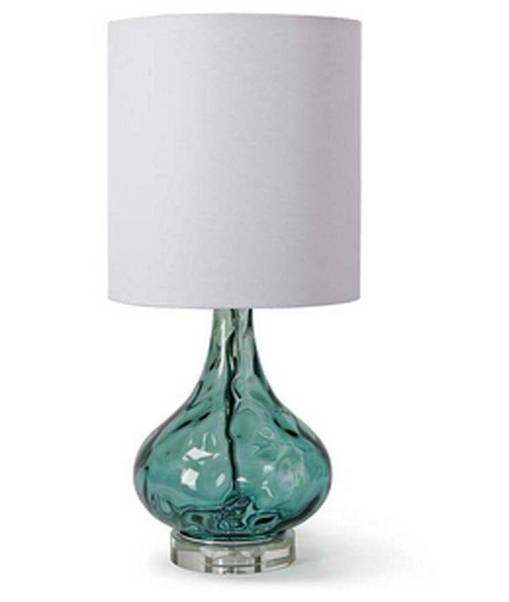 Peacock Blue Gem Lamp | cottageandbungalow.com | Aqua blue | Beach Decor