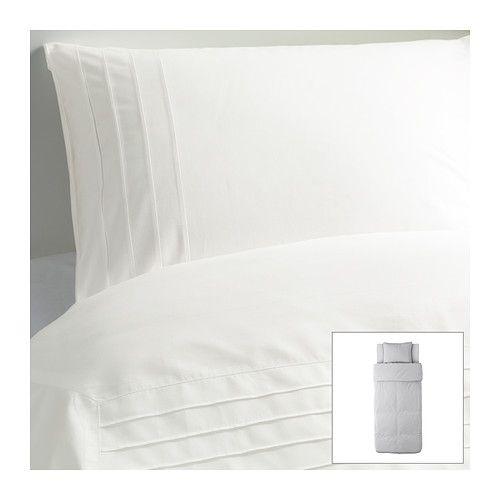 ALVINE STRÅ Påslakan 1 örngott IKEA Kammad bomull; ger mjuka sängkläder med extra slät och jämn väv.