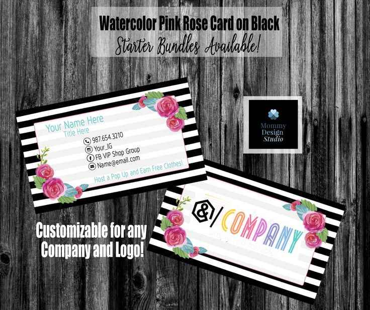 18 best posh business cards images on pinterest fonts script black white horizontal striped pink rose business card ho approved ho compliant fonts reheart Image collections
