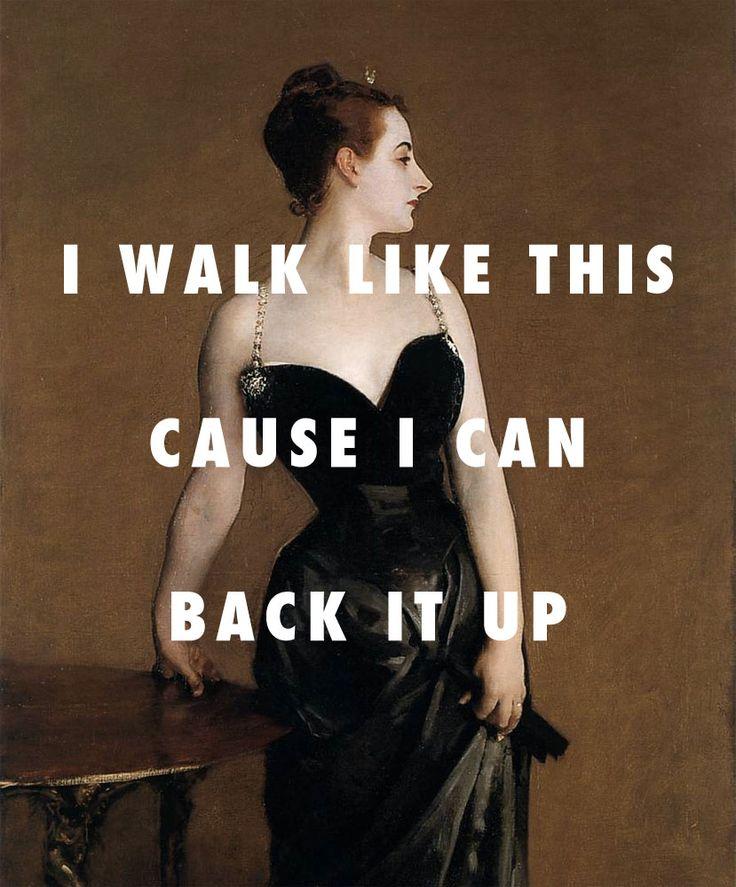 Beyoncé    Madame X and her ego  Madame X ( 1884 ) , John Singer Sargent / Ego ( remix ) , Beyoncé feat. Kanye West