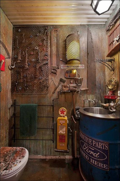 Kind of creepy, but would be cool for a guys bathroom:)