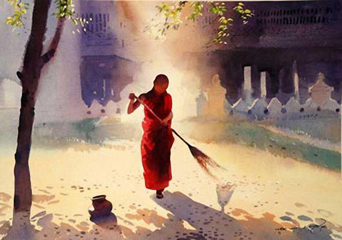 Мастера акварели: Myoe Win Aung