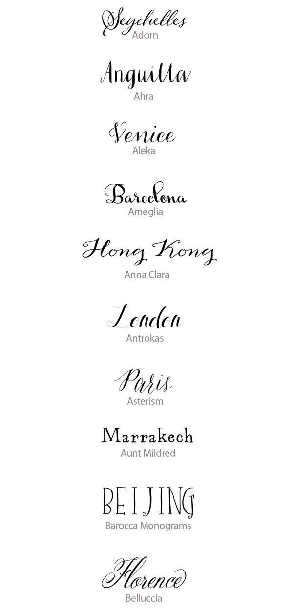 Hand-Lettered Calligraphy Fonts | Best Handwritten Fonts for Weddings | Snippet & Ink
