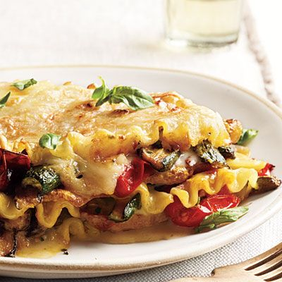 Vegetable Lasagna Restaurant Dishes Made Healthy - Cooking Light~ The Classic:  • 850 calories per serving  • 25 grams saturated fat  • 2,830 milligrams sodium    The Makeover:  • 401 calories per serving  • 7.5 grams saturated fat  • 802 milligrams sodium